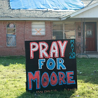 After a 2013 tornado devastated Moore, Oklahoma, signs of faith became visible hope.